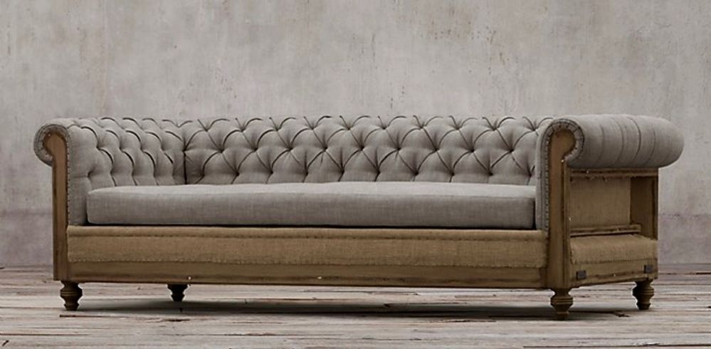 Deconstructed Chesterfield Sofa With Regard To Chesterfield Sofas (Image 5 of 10)