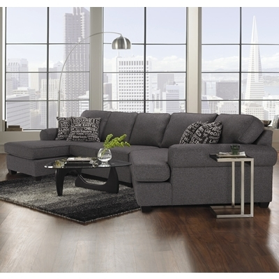 Decor Rest Furniture Living Room 2566/2583 Sectional 100% Made In Throughout Ontario Canada Sectional Sofas (Image 5 of 10)