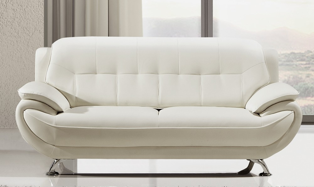 Decorating Soft Leather Sofa Set White Settee Loveseat White Leather With Regard To White Leather Sofas (Image 4 of 10)