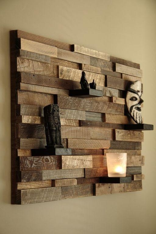 Decorations : Rustic Wooden Textured Wall Art Plus Shelves And Throughout Rustic Canvas Wall Art (Image 9 of 20)