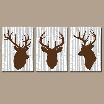 Deer Wall Art, Canvas Or Prints Rustic From Trm Design | Wall Art Inside Rustic Canvas Wall Art (Image 10 of 20)