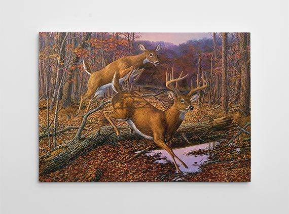 Deer Wall Decor Deer Hunting Canvas Art Large Deer Painting For Deer Canvas Wall Art (View 4 of 20)