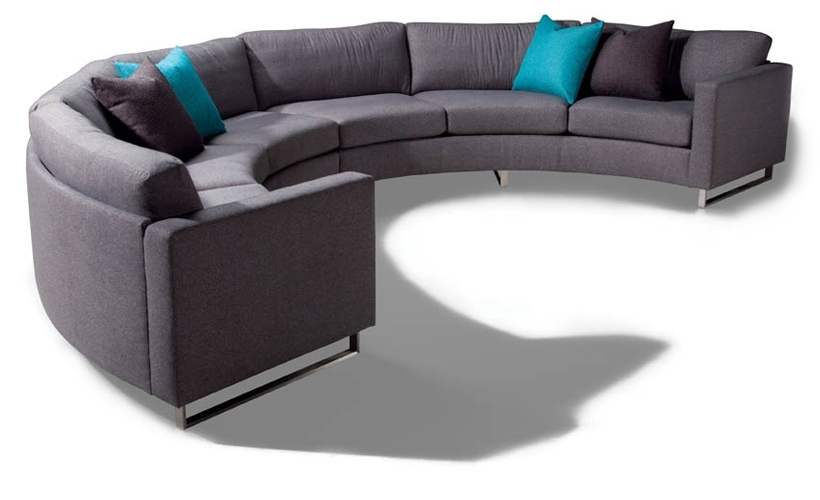 Design Classic 1224 Circular Sectional Sofamilo Baughman From In Circular Sectional Sofas (Image 3 of 10)