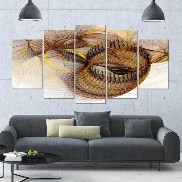 Designart 'abstract Brown Spiral Texture' Abstract Wall Art Canvas With Regard To Overstock Abstract Wall Art (Image 7 of 20)