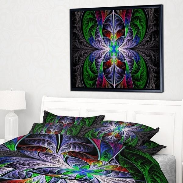 Designart 'beautiful Fractal Stained Glass' Abstract Wall Art With Glass Abstract Wall Art (View 14 of 20)