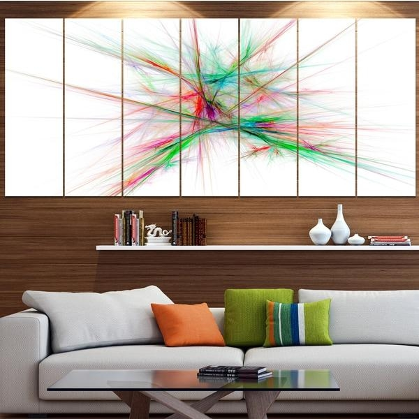 Designart 'blue Red Spectrum Of Light' Abstract Wall Art On Canvas Within Light Abstract Wall Art (Image 7 of 20)