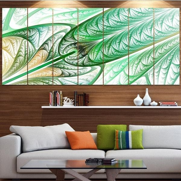 Designart 'green On White Fractal Stained Glass' Abstract Wall Art Within Glass Abstract Wall Art (View 11 of 20)