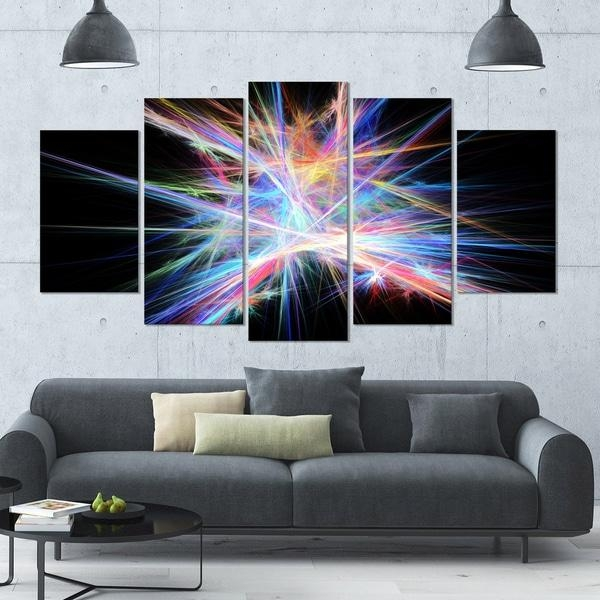 Designart 'light Blue Spectrum Of Light' Abstract Wall Art On Throughout Light Abstract Wall Art (Image 9 of 20)