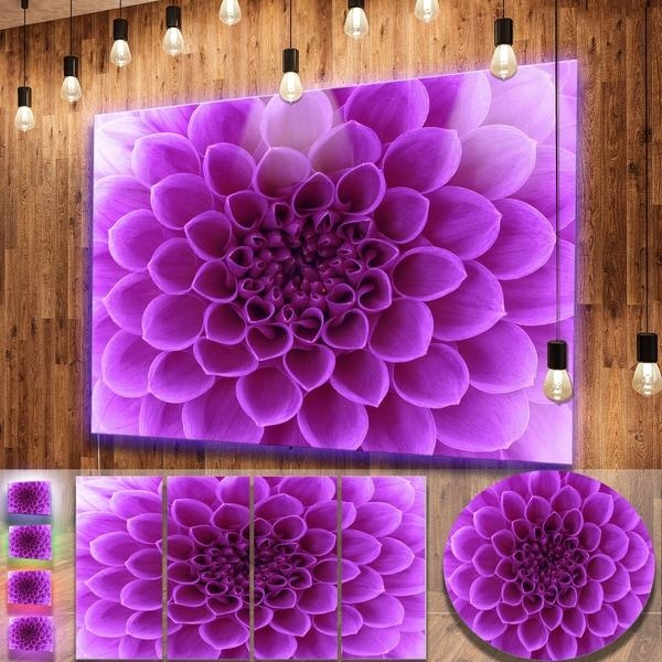 Designart 'light Purple Abstract Flower Petals' Modern Floral With Abstract Flower Metal Wall Art (Photo 10 of 20)