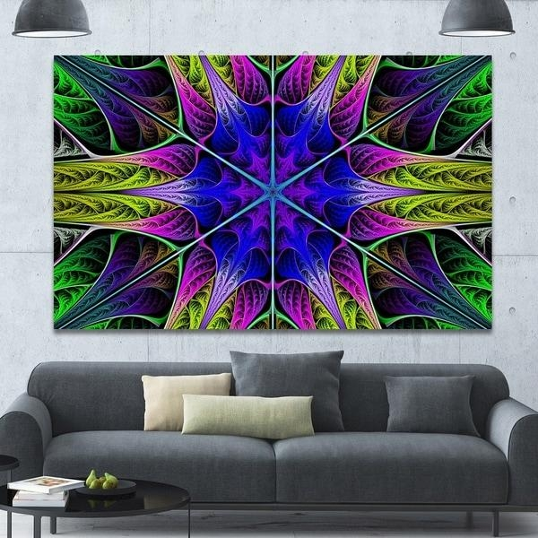 Designart 'star Shaped Blue Stained Glass' Abstract Wall Art On Regarding Glass Abstract Wall Art (View 10 of 20)