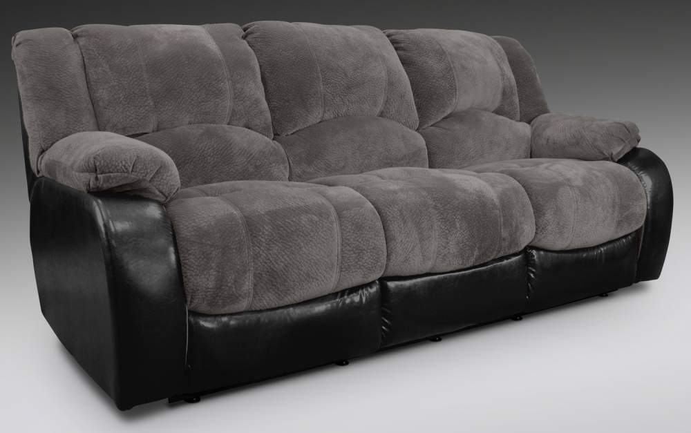 Devon Grey Dual Reclining Sofa Buy In Boston In Soft Sofas (Image 5 of 10)