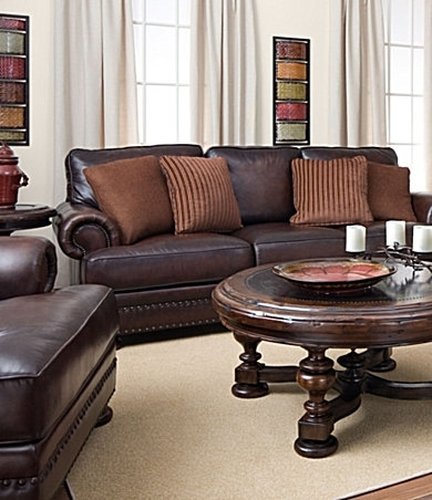 Dillards Bernhardt Seth Leather Sofa 1600 Sale | For The Home With Regard To Dillards Sectional Sofas (Image 2 of 10)