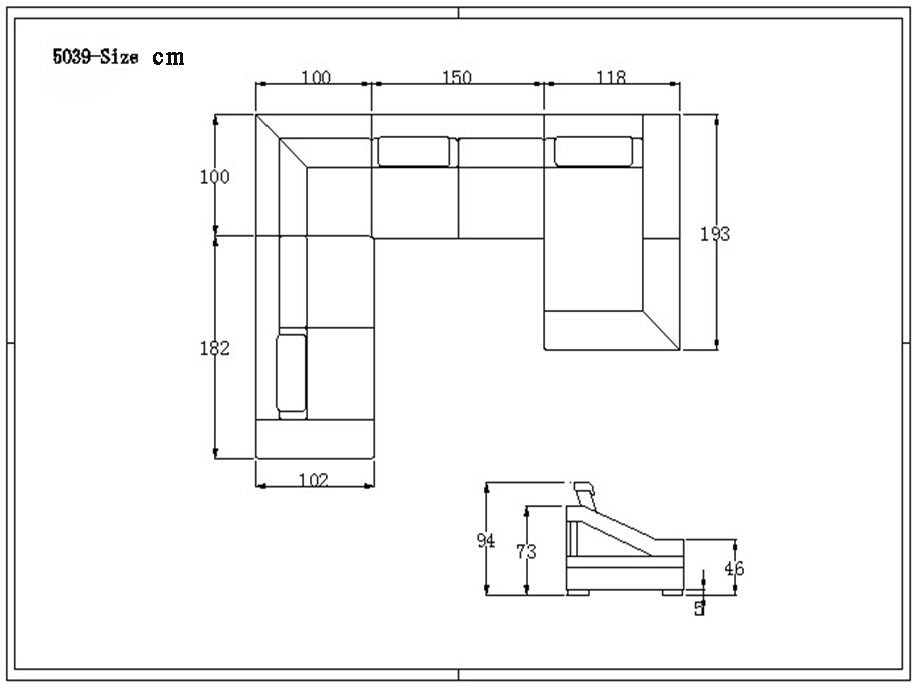 Dimensions Of Sectional Sofa And Sectional Sofa Dimensions Full Size Regarding Sectional Sofas By Size (Image 4 of 10)