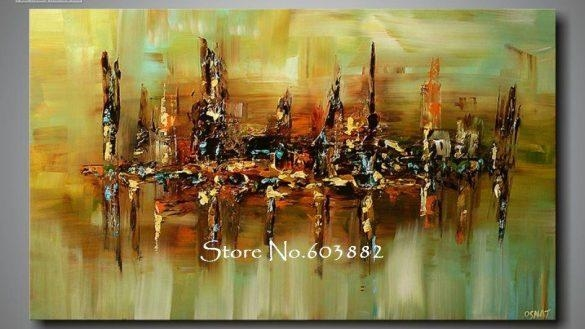 Discount 100 Handmade Large Canvas Wall Art Abstract Painting On With Regard To Giant Abstract Wall Art (View 16 of 20)