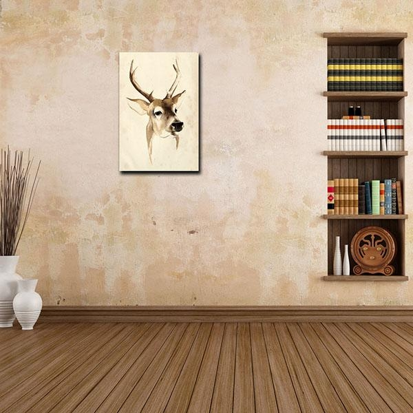 Discount Price Hd Canvas Print Art For Home Decor Deer Oil Within Ottawa Canvas Wall Art (Image 6 of 20)
