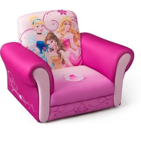 Disney Princess Deluxe Upholstered Chair – Walmart | For My Pertaining To Disney Sofa Chairs (Image 7 of 10)