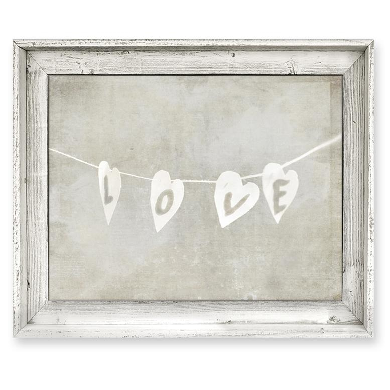 District17: Love String Framed Canvas Wall Art: Framed Art,canvas Within Love Canvas Wall Art (Image 8 of 20)