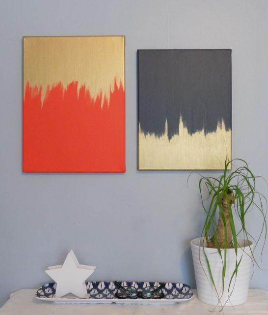 Diy Canvas Painting Creative And Easy Diy Canvas Wall Art Ideas Within Homemade Canvas Wall Art (Image 14 of 20)
