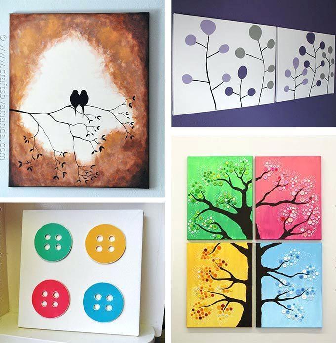 Diy Canvas Wall Art Youtube Ideas Tutorials 8 – Home Design Regarding Homemade Canvas Wall Art (Image 15 of 20)