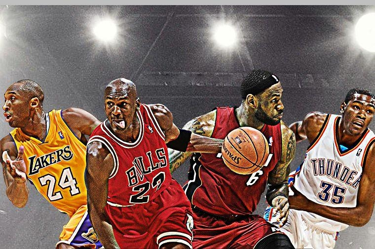 Diy Frame Michael Jordan,,lebron Durant 4 Legend In One Poster With Regard To Michael Jordan Canvas Wall Art (Image 4 of 20)
