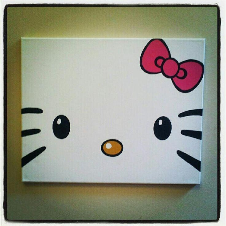 Diy Hello Kitty Canvas Paintingtotally Making This For My Regarding Hello Kitty Canvas Wall Art (Image 8 of 20)