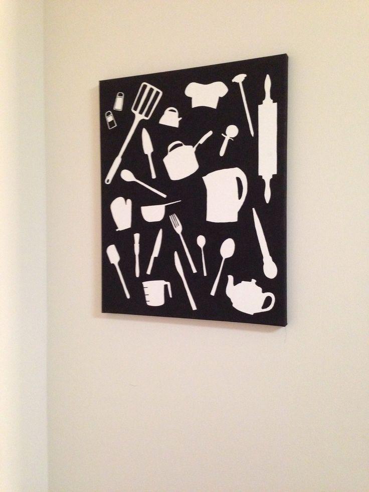 Diy Kitchen Canvas Wall Art   Dining Room/kitchen   Pinterest With Kitchen Canvas Wall Art (Image 7 of 20)