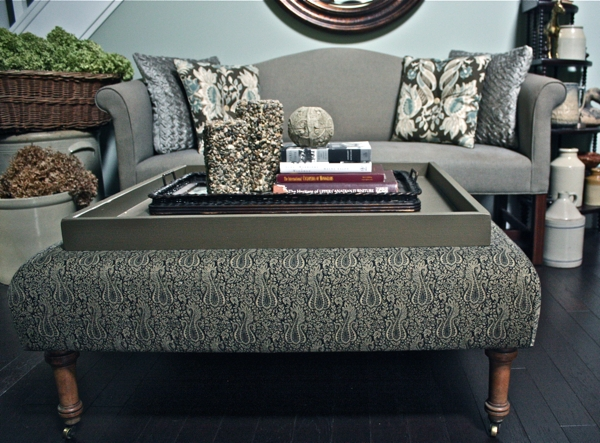 Diy Ottoman Tray | Diy Ottoman, Ottomans And Square Ottoman For Ottomans With Tray (View 2 of 10)
