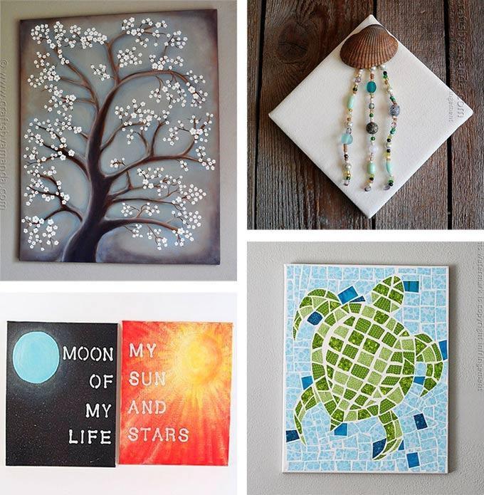 Diy Painting On Canvas Ideas Canvas Wall Art Ideas 30 Canvas With Homemade Canvas Wall Art (Image 17 of 20)