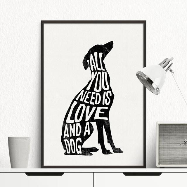 Dog Minimalist Poster Italian Greyhound Nordic Wall Art Print With Regard To Dogs Canvas Wall Art (Image 10 of 20)
