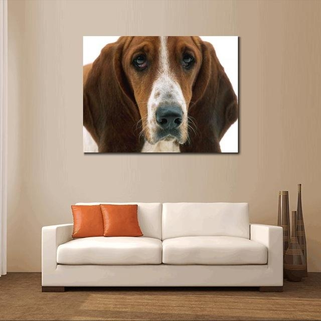 Dogs Canvas Prints Animals Home Decor Modern Animal Wall Art In Dogs Canvas Wall Art (Image 12 of 20)