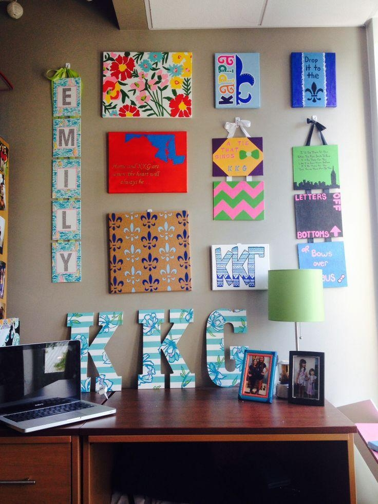 Dorm Wall Décor: Steps For Making Beautiful Room — Cakegirlkc Pertaining To Canvas Wall Art For Dorm Rooms (View 8 of 20)