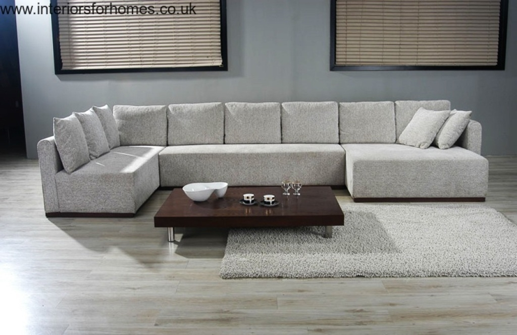 Double Chaise Sectional Sofa | Large U Shaped Sectionals | Future Within Huge Sofas (Image 3 of 10)