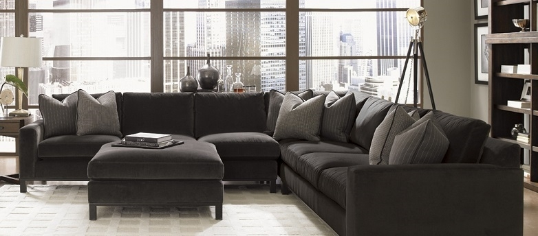 Down Feather Sectional Fabric Sectionals Living Room Fabric With Regard To Down Feather Sectional Sofas (View 5 of 10)