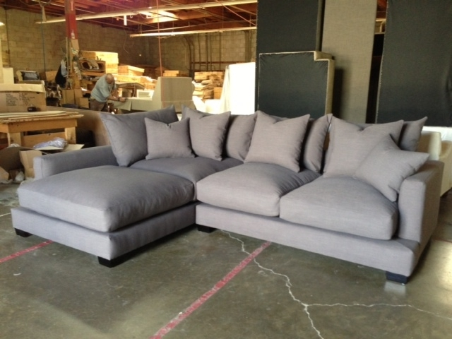 Down Filled Sofa Sectional Centerfieldbar Down Feather Sectional For Down Feather Sectional Sofas (View 1 of 10)