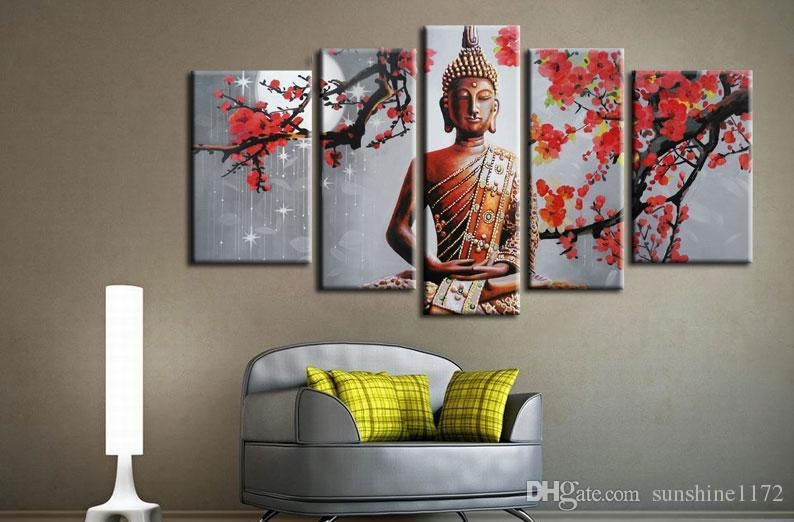 Download Buddha Canvas Wall Art | Himalayantrexplorers Pertaining To Ethnic Canvas Wall Art (Image 4 of 20)