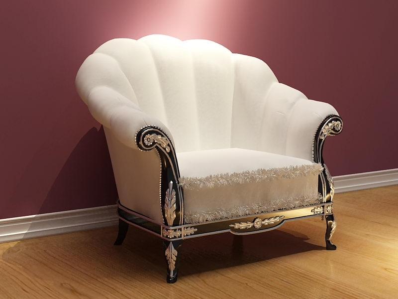 Download Free 3D Model,autocad,3D Textture,vector,psd,flash,jpg Throughout White Sofa Chairs (Image 6 of 10)