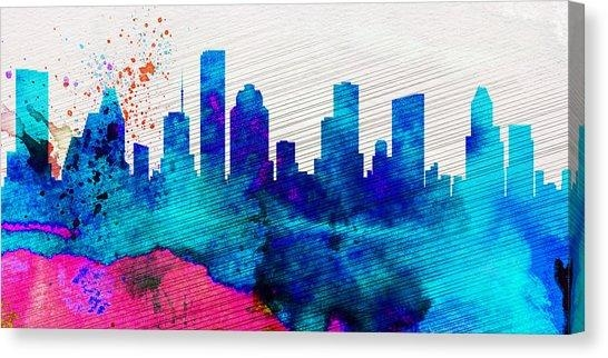 Downtown Houston Canvas Prints | Fine Art America Throughout Houston Canvas Wall Art (Image 3 of 20)