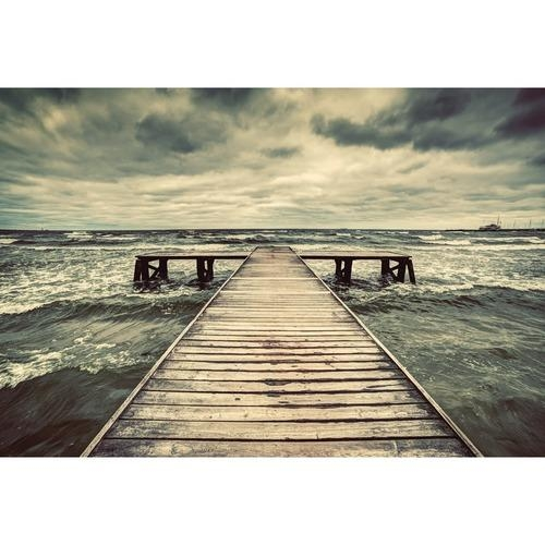 Dramatic Jetty Canvas Wall Art | Temple & Webster Within Jetty Canvas Wall Art (Image 8 of 20)
