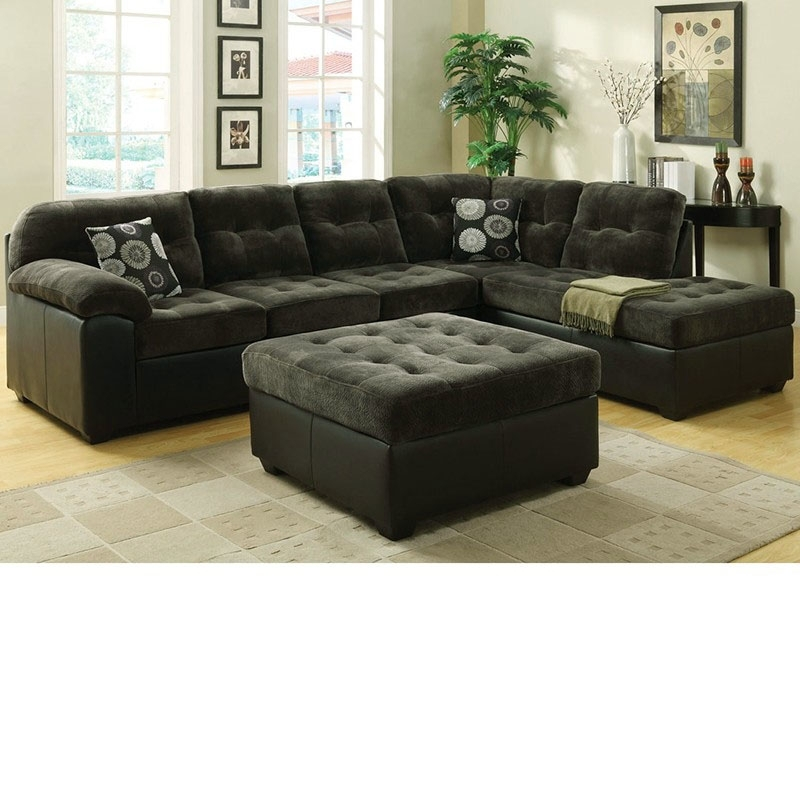 Dreamfurniture – 50530 Layce Dark Green Morgan Fabric Sectional With Green Sectional Sofas (Image 3 of 10)