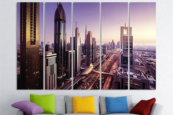 Dubai Art United Arab Emirates Dubai Wall Art Dubai Canvas Art With Regard To Dubai Canvas Wall Art (Image 12 of 20)