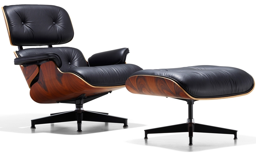 Eames® Lounge Chair & Ottoman – Hivemodern Inside Chairs With Ottoman (Photo 1 of 10)