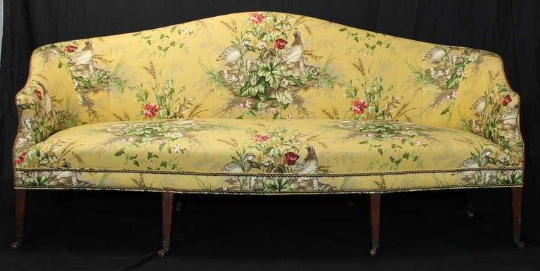 Early 19Th Century Federal Sofa At 1Stdibs With Yellow Chintz Sofas (Image 4 of 10)