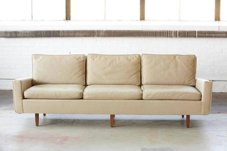 Early Florence Knoll Sofa Model # 26D From 1967 With Original Fabric Pertaining To Florence Knoll Fabric Sofas (Image 2 of 10)