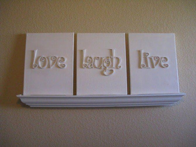 Easy Diy Wall Art | Canvas Factory With Regard To Letters Canvas Wall Art (Image 9 of 20)