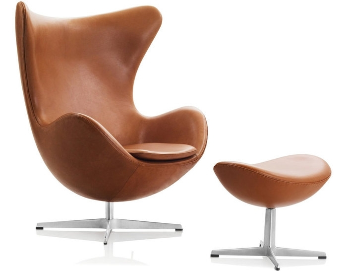 Egg Chair & Ottoman – Hivemodern Pertaining To Chairs With Ottoman (Photo 2 of 10)