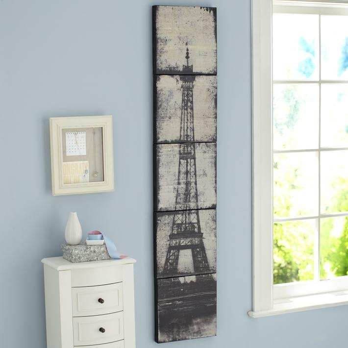 Eiffel Tower Canvas Wall Art | Pbteen Intended For Eiffel Tower Canvas Wall Art (Image 6 of 20)