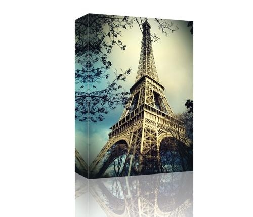 Eiffel Tower Paris, France Gallery Wrapped Canvas, Canvas Print For Eiffel Tower Canvas Wall Art (Image 7 of 20)