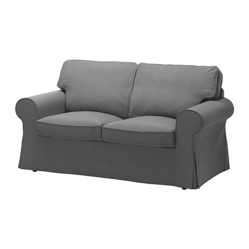 Ektorp Two Seat Sofa Nordvalla Dark Grey – Ikea Throughout Ikea Two Seater Sofas (Photo 4 of 10)