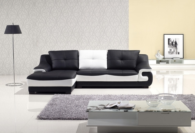 Elegant Black And White Sofa Set 11 For Living Room Sofa Ideas With Throughout Black And White Sofas (Image 3 of 10)