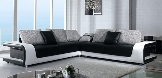 Elegant Black And White Sofas 34 For Your Modern Sofa Inspiration Intended For Black And White Sofas (Image 4 of 10)
